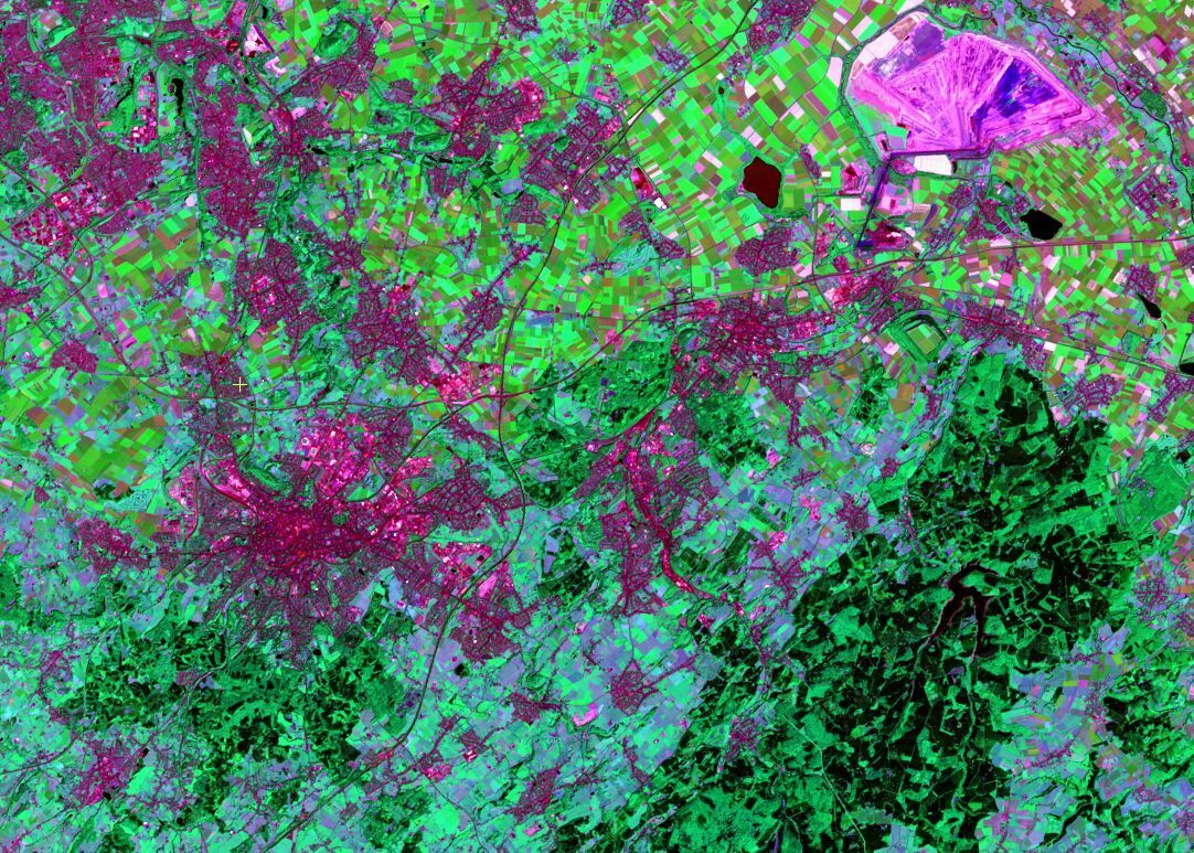 Aachen from space