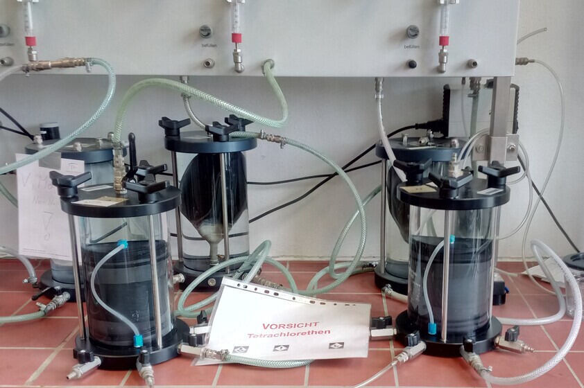 experimental setup triax-experiment with PER